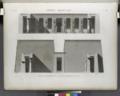 Thèbes. Medynet-Abou (Medinet Habu). Coupes transversales de la cour et du péristyle du palais (NYPL b14212718-1267936).tiff