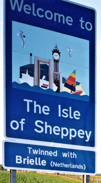 Isle of Sheppey - Welcome sign