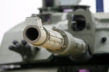 Challenger 2 fitted with 120 mm smoothbore gun for trials