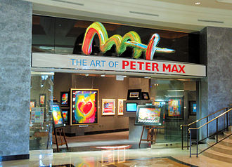 Peter Max - One of Max's art galleries, at The Forum Shops at Caesars in 2008