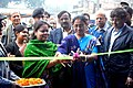 The Block Development Officer, Bagdah, Smt. Malabika Khatua inaugurating the DAVP exhibition, at the Public Information Campaign, at Helencha, Bagdah Block, North 24 Parganas district, in West Bengal on December 18, 2015.jpg