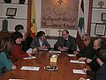 The British Ambassador to Lebanon, Frances Guy, at a meeting of the Syriac League in Lebanon (2256980375).jpg