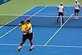 The Bryan Brothers triumphant at the US Open (9662618045).jpg