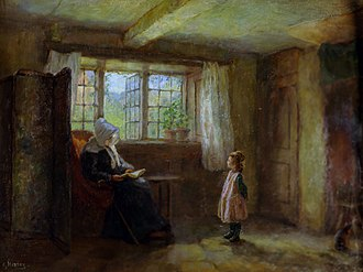 Catechism - The Catechism, painting by Edith Hartry