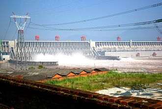 Hydropower - The Three Gorges Dam in China; the hydroelectric dam is the world's largest power station by installed capacity.