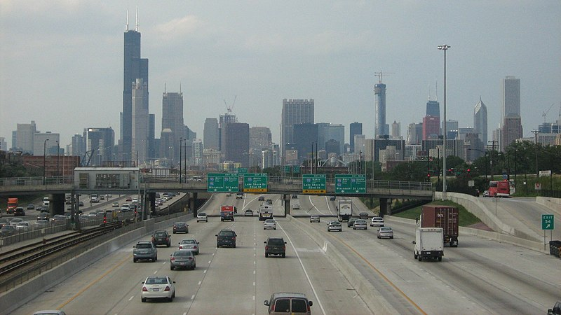 File:The Dan Ryan Expressway Westbound near the I-55 exit.jpg