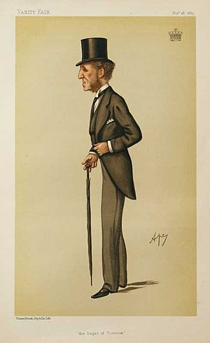 Dudley Ryder, 3rd Earl of Harrowby - The Earl of Harrowby caricatured by Ape (Carlo Pellegrini) in 1885.