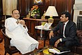 The Governor, Reserve Bank of India, Dr. Raghuram Rajan calling on the Union Minister for Finance, Shri Arun Jaitley, in New Delhi on May 27, 2014.jpg