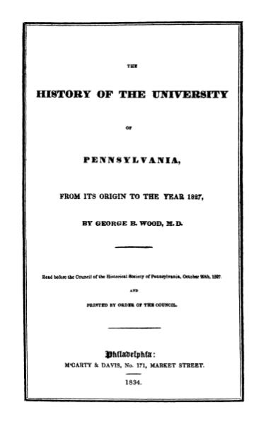 File:The History of the University of Pennsylvania, Wood.djvu