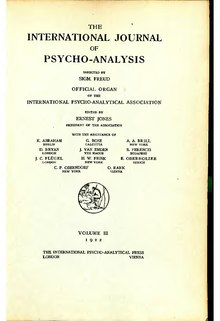 The International Journal of Psycho-Analysis III 1922 1.djvu
