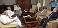 The Minister of Public Works and Habitation, Republic of Mozambique, Mr. Cadmiel Muthemba calls on the Union Minister for Road Transport & Highways, Dr. C.P. Joshi.jpg