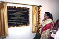 The Minister of State for Communications & Information Technology, Dr. (Smt.) Kruparani Killi unveiling the plaque to inaugurate the Automated Mail Processing Centre (AMPC), at Kolkata on January 27, 2013.jpg