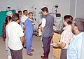 The Minister of State for Information & Broadcasting, Col. Rajyavardhan Singh Rathore visiting the Government hospital, in SPSR Nellore, Andhra Pradesh on April 25, 2017.jpg