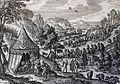 The Phillip Medhurst Picture Torah 69. Noah drunk. Genesis cap 9 v 22. Borcht.jpg