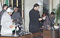 The President Dr.A.P.J.Abdul Kalam administering the Oath (Minister of State) to Shri Anand Sharma, in New Delhi on January 29,2006.jpg