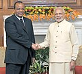 The Prime Minister, Shri Narendra Modi meeting the King Mswati III of Swaziland, during the 3rd India Africa Forum Summit, in New Delhi on October 28, 2015 (1).jpg