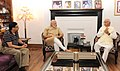 The Prime Minister, Shri Narendra Modi visited the residence of Shri L.K. Advani and met him, in New Delhi on April 20, 2016.jpg
