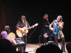 Findhorn Foundation - Findhorn attracts cultural and artistic events, such as Mike Scott and The Waterboys, shown here playing a concert at Universal Hall in 2004.