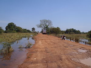 Yirol - Yirol Road, just outside Yirol Town, South Sudan