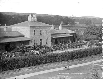 Great Southern and Western Railway - The Great Southern Railway Terminus in Killarney, Co. Kerry. Circa 1890