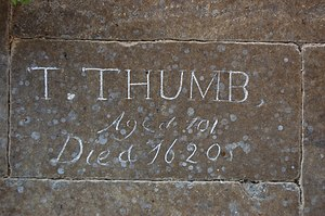 Tom Thumb - Grave of Tom Thumb in Tattershall, Lincolnshire.