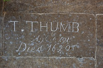 Tattershall - Grave of Tom Thumb