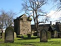 The graveyard of St. Andrew's Church and the Vicar's Pele - geograph.org.uk - 673693.jpg