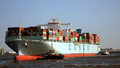 The new Cosco France - turning maneuver - Port of Hamburg 5 September 2013.png