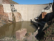 Roosevelt Dam seen from downstream