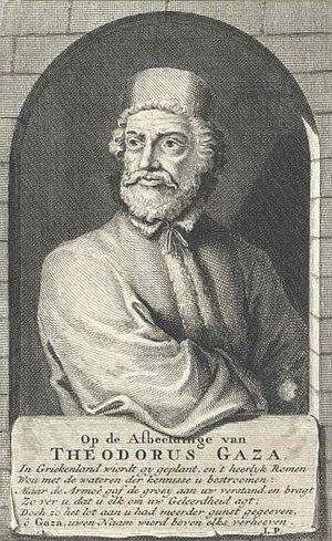 Theodorus Gaza - A portrait of Theodore Gaza.