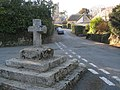 Throwleigh - The Commemorative Cross and street view - geograph.org.uk - 1743872.jpg
