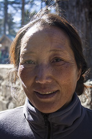 Tibetan people - Tibetan Middle aged woman in Sikkim