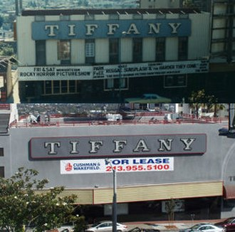 Tiffany Theater - Tiffany Theater in 1980 and 2011