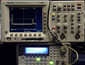 Time-domain reflectometer - Image: Time Domain Reflectometer made from common lab equipment