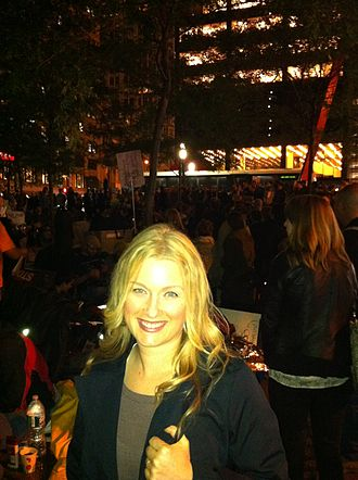 Tina Dupuy - Dupuy in October 2011 at Zuccotti Park covering Occupy Wall Street for The Atlantic