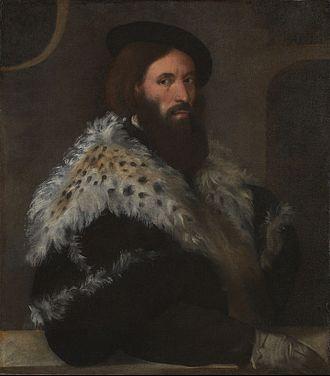 Girolamo Fracastoro - Portrait of Girolamo Fracastoro by Titian, c.1528