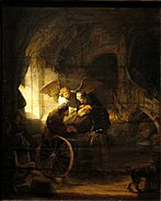 Tobias Healing his Father by Rembrandt - Staatsgalerie - Stuttgart - Germany 2017.jpg