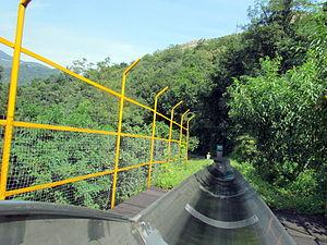 Alpine slide - Tobbogan in Mutianyu, China