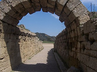 Stadium at Olympia - The vaulted tunnel leading into the stadium