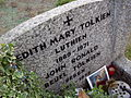 Edith Tolkien's gravestone, on which she is called Luthien (Wiki)
