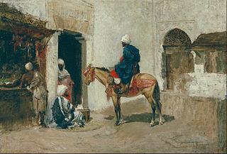 Sketch for 'Arab Café'