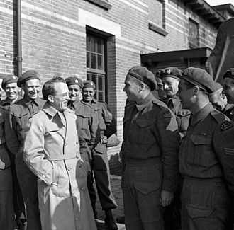 English Canadians - Tommy Douglas (centre left).
