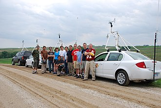 TWISTEX - The TWISTEX crew and the vehicles on equipped with mobile mesonets.