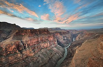 Toroweap Formation - View from the Toroweap Overlook in the Grand Canyon at sunrise.
