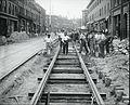 Track construction looking towards Maverick Square, East Boston.jpg