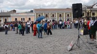 File:Traditional Music in the Plaza San Francisco, Quito.webm