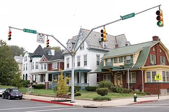 Hagerstown, Maryland - A street corner on Broadway near downtown Hagerstown.