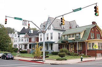 Road traffic safety - Sidewalks, curbs and traffic signals in Hagerstown, Maryland, United States