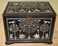 Traveling cabinet, western India, 18th century, made for the Western market, wood, ivory and gilt iron alloy, HAA.JPG