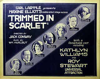 <i>Trimmed in Scarlet</i> 1923 film by Jack Conway